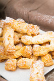 Faworki - Traditional Polish cookies served at Fat Thursday Royalty Free Stock Images
