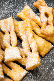 Faworki - Traditional Polish cookies served at Fat Thursday Royalty Free Stock Photo