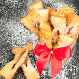 Faworki - Traditional Polish cookies served at Fat Thursday Royalty Free Stock Photos