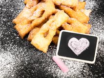 Faworki - Traditional Polish cookies served at Fat Thursday. Angel wings cookies Stock Image