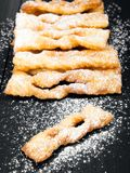 Faworki - Traditional Polish cookies served at Fat Thursday. Angel wings cookies Stock Photo