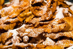 Faworki - traditionella kakor från Polen royaltyfri fotografi