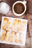 Faworki - traditionella polska kakor arkivbild