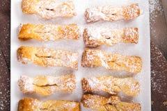 Faworki - traditionella polska kakor arkivfoto