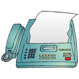 Fax. Art illustration: a fax machine Royalty Free Stock Images