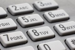 Fax dial pad Royalty Free Stock Image
