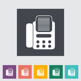 Fax flat icon. Vector illustration EPS Stock Photos