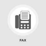 Fax flat icon. Fax icon vector. Flat icon isolated on the white background. Editable EPS file. Vector illustration Stock Image