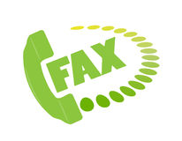 Fax icon. Illustration of fax icon, symbol Royalty Free Stock Images
