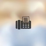 Fax icon on blurred background Royalty Free Stock Images