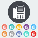 Fax icon. Fax. Single flat icon on the circle. Vector illustration Stock Images