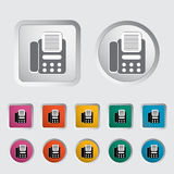 Fax icon. Vector illustration EPS Stock Photo