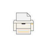 Fax line icon, printer, electronic device, Royalty Free Stock Images