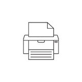 Fax line icon, printer, electronic device,. Social media, vector graphics, a colorful linear pattern on a white background, eps 10 Stock Image