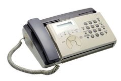 Fax machine. Image on the white background Royalty Free Stock Photo