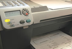 Fax machine. & Copier Stock Images