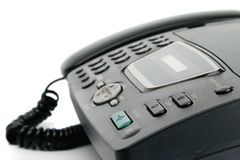 Fax machine closeup Stock Photo