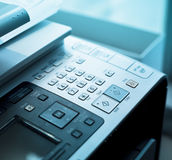 Fax Machine Dial Pad Stock Image
