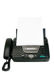 Fax machine with document Stock Photos