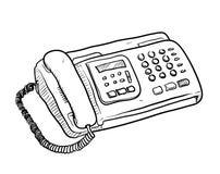 Fax Machine Doodle Royaltyfri Bild