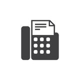 Fax machine icon , telefax solid logo illustration, pictog. Ram isolated on white Royalty Free Stock Images