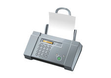 Fax machine, illustration Royalty Free Stock Image