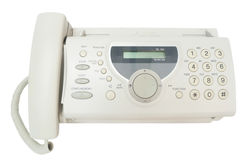 Fax machine. Fax machine isolated on white Stock Images