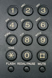 Fax machine keypad close-up Royalty Free Stock Photos