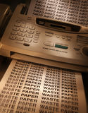 Fax machine making copies Royalty Free Stock Photos
