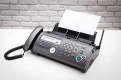Fax machine Royalty Free Stock Photo
