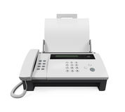 Fax Machine with Paper Royalty Free Stock Photography