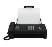Fax Machine with Paper Royalty Free Stock Image