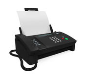 Fax Machine with Paper Royalty Free Stock Images