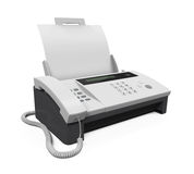 Fax Machine with Paper Royalty Free Stock Photo