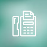 Fax machine thin line icon Royalty Free Stock Photo