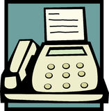 Fax machine vector illustration. Vector illustration of a fax machine Stock Photo