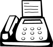 Fax machine vector illustration Royalty Free Stock Image