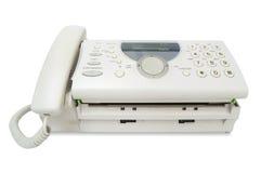 Fax machine. On white Stock Image