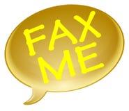 Fax me bubble Stock Photo