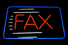 Fax neon sign royalty free stock image