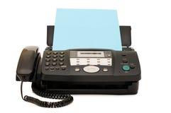 Fax noir d'isolement sur le blanc images stock