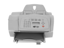 Fax printer. Isolated on white background Royalty Free Stock Images