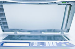 Fax printer. Business Colour Printer on white Royalty Free Stock Photography