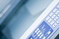 Fax printer. Business Colour Fax Printer on white Royalty Free Stock Photo