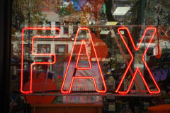 Fax Sign images stock
