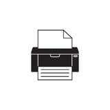 Fax solid icon, printer, electronic device,. Social media, vector graphics, a filled pattern on a white background, eps 10 Royalty Free Stock Photo