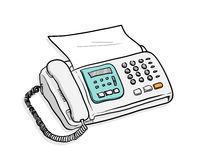 Fax Telephone Imagen de archivo