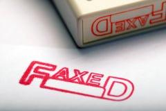 faxed photographie stock libre de droits