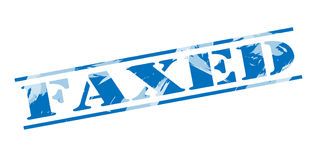 Faxed blue stamp Royalty Free Stock Photos