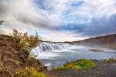Faxi siklawa w ranku, Iceland Zdjęcie Royalty Free